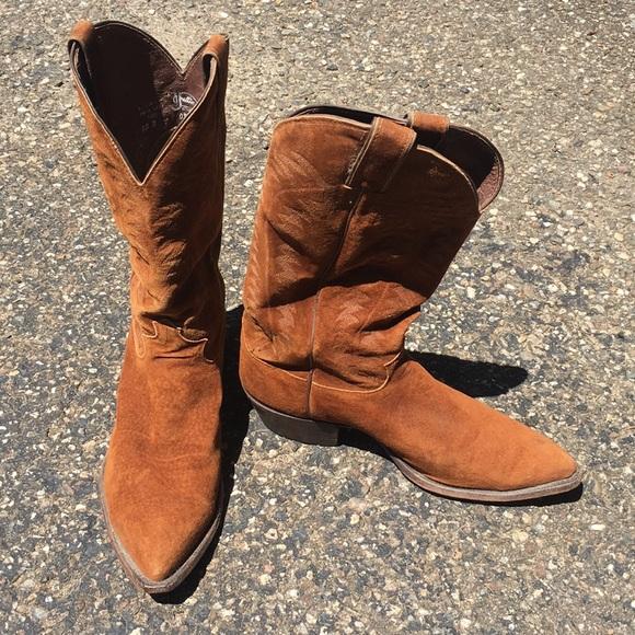 Justin Suede Cowboy Boots